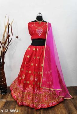 Gorgeous Taffeta Silk Embroidered Lehenga