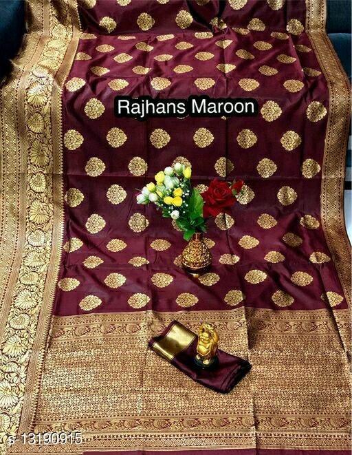 Women's Banarasi & kanjivaram Silk Saree With Running Un-stitched Blouse