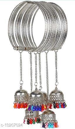 Fashionable Silver Multi Bangle for beautiful girls & women