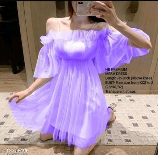 Women's Off Shoulder Net Dress