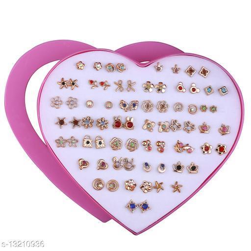 Stud Earring Golden look Set of 36 Earrings for Women…