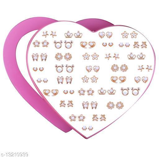 Stud Earring Golden look Cute Earring Set of 36 Earrings for Women…