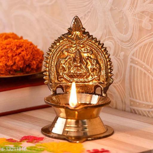 Divine Kamakshi Old Brass Diya (3.5 Inches)