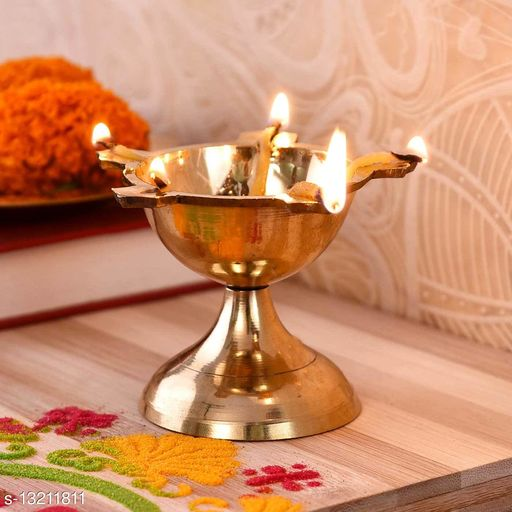 Traditional Poona Brass Batti Deep (2.5 Inches)
