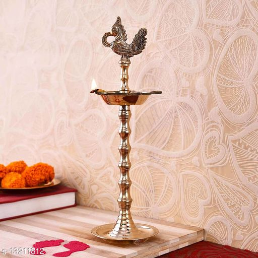 Sublime Rudrakshi Brass Deep (10*2.5 Inches)