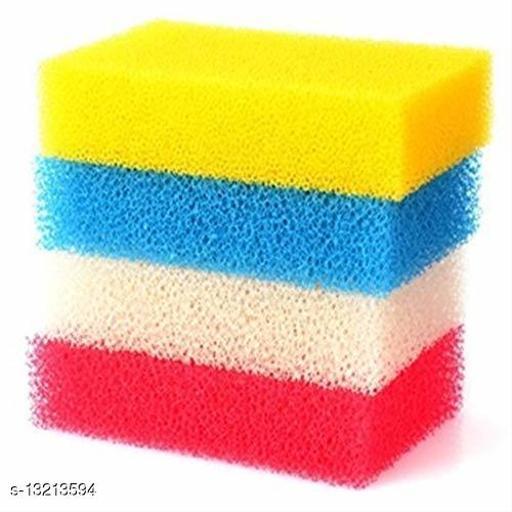 Multicolour Sponge Scrubber Pack of 4 Pieces
