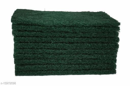 10-Piece Green Heavy Duty Nylon Scrub Pad 6x4 inches