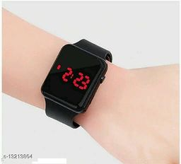 latest trendy black digital watch for age group 8 to 17 years children-kids