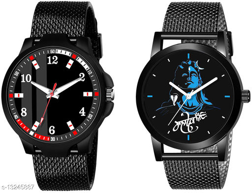 K498 & K181 new Attrective Two Watches combo For Men & Men