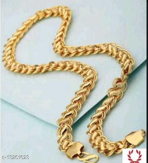 Trendy Men's Golden Gold Plated Chain