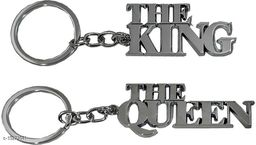 The.Queen+TheKing Stylish Metal Antique Single Key Ring Hook/Latest Fashion Keychain Holder for Bikes,Car and Gift Key Chain