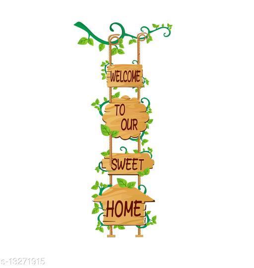 """Creatick Studio Door Sticker - Welcome Our Sweet Home"""" Quote Decorative Home Door - Wall Sticker ( 83Cm X 38Cm )"""