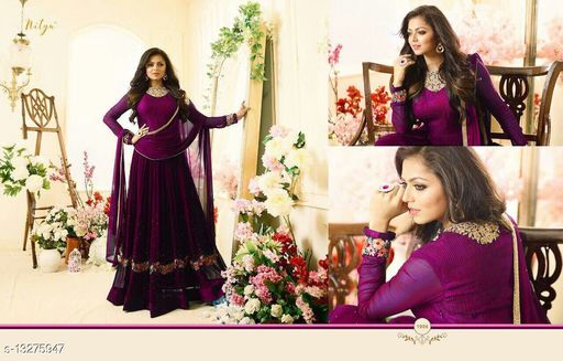 New Designer Wedding Anarkali Semi Stitched Salwar Suit