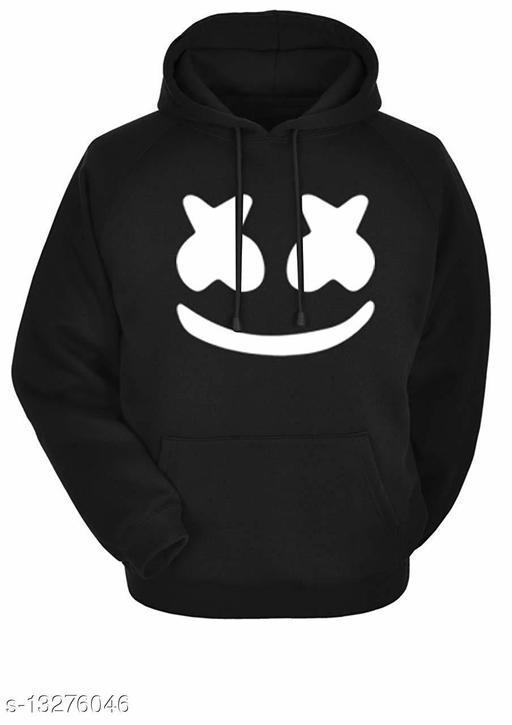 MARSH MELLLOW Printed Hooded Neck Sweatshirt for Men