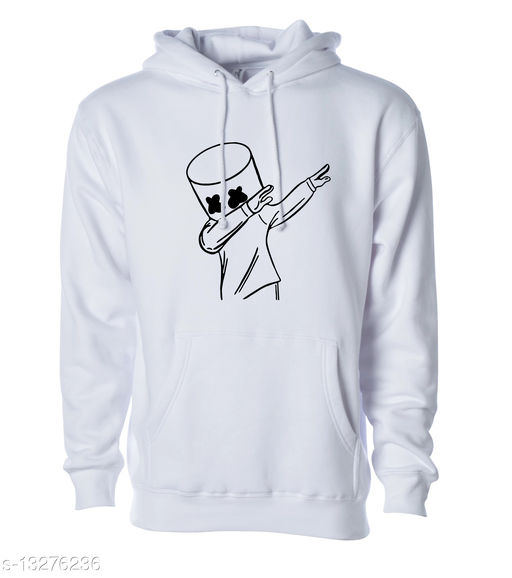 DANCE MELLLOW Printed Hooded Neck Sweatshirt for Men