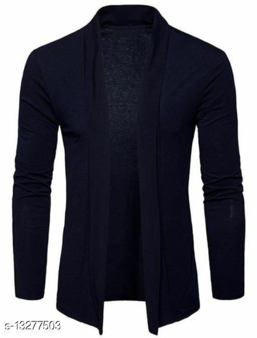 Glito Men's Jacket Stylish Full Sleeve Navy Blue Shrug
