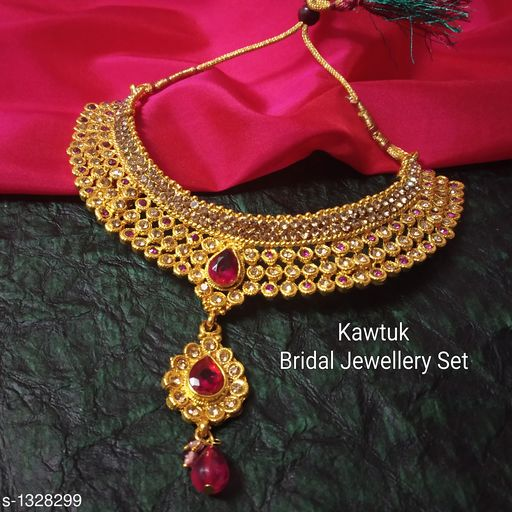 Jewellery Set Beautiful Gold plated Copper Choker Jewellery Set  *Material* Copper  *Size* Free Size  *Description* It Has 1 Piece Of Choker Necklace  *Plating* Gold  *Work* Kundan & Beaded  *Sizes Available* Free Size *   Catalog Rating: ★4.4 (19)  Catalog Name: Exquisite Beautiful Gold plated Copper Choker Jewellery Set CatalogID_170339 C77-SC1093 Code: 914-1328299-