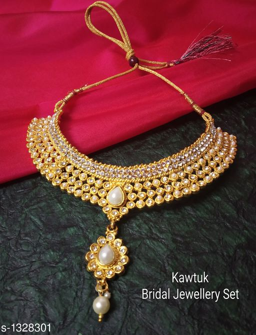 Jewellery Set Beautiful Gold plated Copper Choker Jewellery Set  *Material* Copper  *Size* Free Size  *Description* It Has 1 Piece Of Choker Necklace  *Plating* Gold  *Work* Kundan & Beaded  *Sizes Available* Free Size *   Catalog Rating: ★4.4 (19)  Catalog Name: Exquisite Beautiful Gold plated Copper Choker Jewellery Set CatalogID_170339 C77-SC1093 Code: 914-1328301-