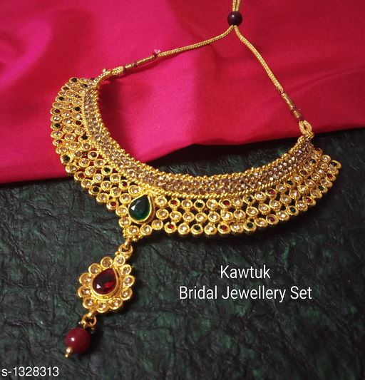 Jewellery Set Beautiful Gold plated Copper Choker Jewellery Set  *Material* Copper  *Size* Free Size  *Description* It Has 1 Piece Of Choker Necklace  *Plating* Gold  *Work* Kundan & Beaded  *Sizes Available* Free Size *   Catalog Rating: ★4.4 (19)  Catalog Name: Exquisite Beautiful Gold plated Copper Choker Jewellery Set CatalogID_170339 C77-SC1093 Code: 914-1328313-