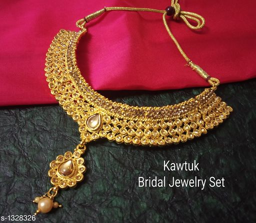 Jewellery Set Beautiful Gold plated Copper Choker Jewellery Set  *Material* Copper  *Size* Free Size  *Description* It Has 1 Piece Of Choker Necklace  *Plating* Gold  *Work* Kundan & Beaded  *Sizes Available* Free Size *   Catalog Rating: ★4.4 (19)  Catalog Name: Exquisite Beautiful Gold plated Copper Choker Jewellery Set CatalogID_170339 C77-SC1093 Code: 914-1328326-