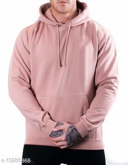 PLAIN Printed Hooded Neck Sweatshirt for Men