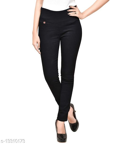 Ansh Fashion Wear Women's High Waist Tummy Tucker Stretchable Ankle Length Stretchable Cotton Denim Comfortable Jeggings for Girls and Womens