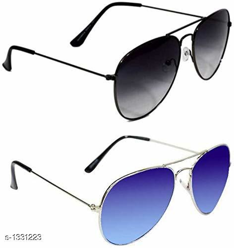 Trendy Unisex Poly Carbonate Sunglasses (Pack Of 2)