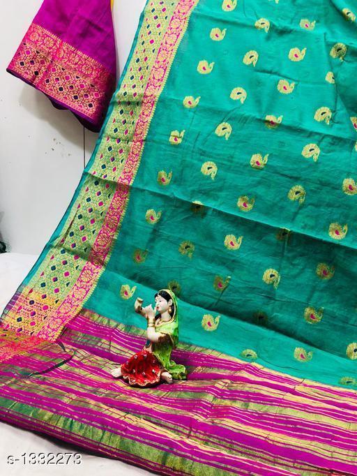 Sarees Dainty Patola Silk Saree  *Fabric* Saree - Patola Silk, Blouse - Patola Silk  *Size* Saree Length With Running Blouse 6.25 Mtr  *Work* Jacquard Zari  *Sizes Available* Free Size *   Catalog Rating: ★3.7 (23)  Catalog Name: Aagam Zari Woven Patola Silk Sarees CatalogID_170965 C74-SC1004 Code: 197-1332273-