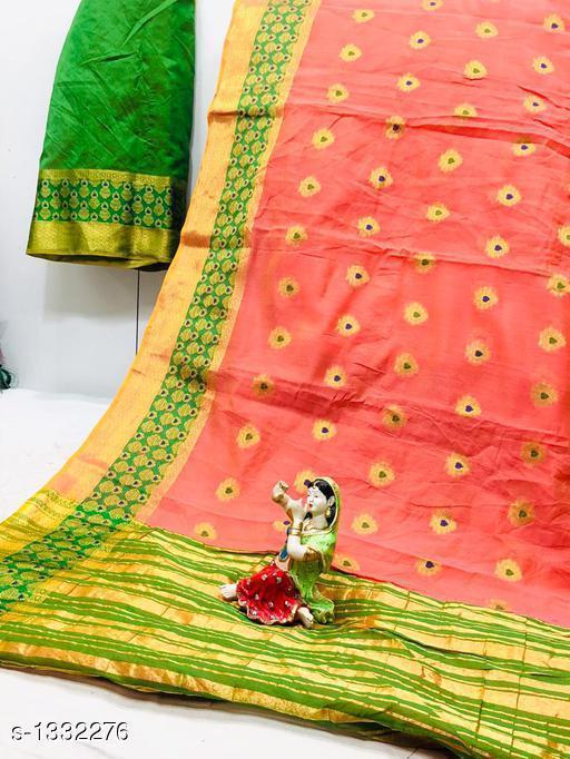 Sarees Dainty Patola Silk Saree  *Fabric* Saree - Patola Silk, Blouse - Patola Silk  *Size* Saree Length With Running Blouse 6.25 Mtr  *Work* Jacquard Zari  *Sizes Available* Free Size *   Catalog Rating: ★3.7 (23)  Catalog Name: Aagam Zari Woven Patola Silk Sarees CatalogID_170965 C74-SC1004 Code: 197-1332276-
