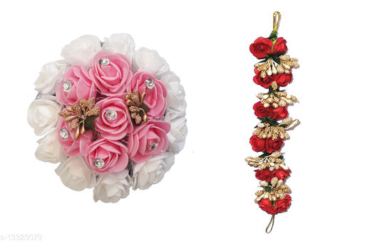 Hair Accessories  Accessories Set Of 2 Combo Hair Rose Clip/ Hair Bun Decoration Gajra/ Extension For Women/Girls (Multicolor) Material: Fabric Multipack: 1 Sizes:  Free Size Country of Origin: India Sizes Available: Free Size *Proof of Safe Delivery! Click to know on Safety Standards of Delivery Partners- https://ltl.sh/y_nZrAV3   Catalog Name: Allure Fancy Women Hair Accessories CatalogID_2610510 C72-SC1088 Code: 562-13323073-