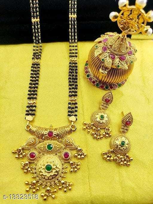 twinkling chunky jewellery mangalsutra