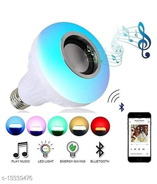 SKYRISE LED MUSIC BULB WITH REMOTE CONTROL AND IN-BUILT BLUETOOTH SPEAKER