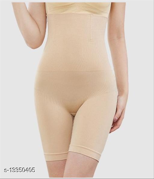 Women?? Cotton Lycra Tummy Control 4-in-1 Blended High Waist Tummy & Thigh Shapewear