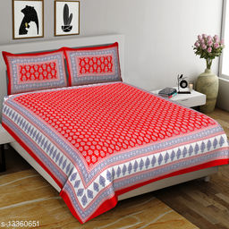RAW WASH double bedsheet with 2 pillow covers
