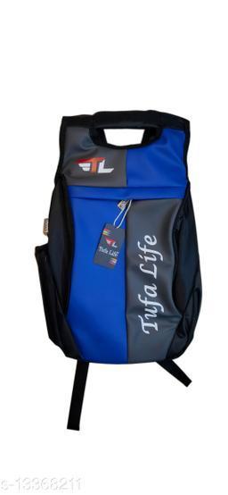 Trendy Men's Blue Faux Leather/Leatherette Backpacks
