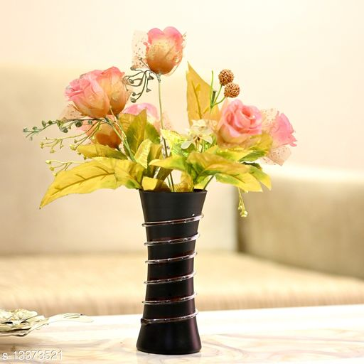 1st TimeHand Decorative Table Top, Room Corner, Showcase Glass Flower Pot Vase Colorful, Gift-able -K6