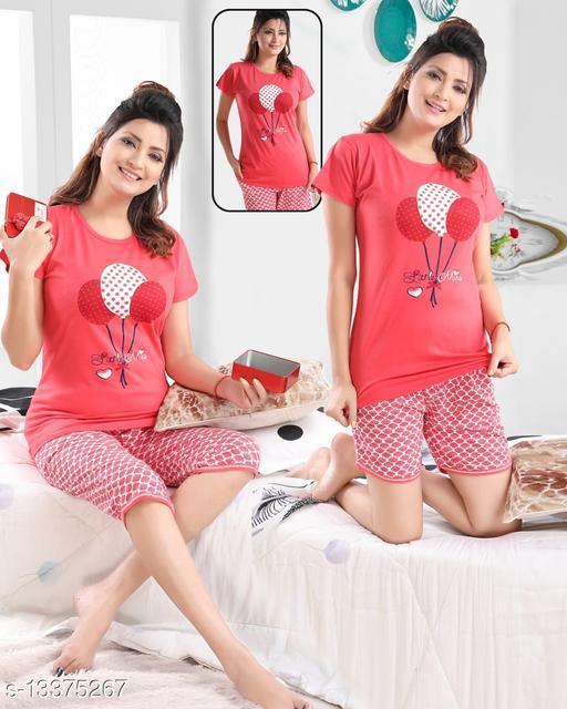 A4U Women Hosiery Nightsuit