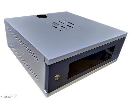 Kenji 2U DVR/Server/Network Cabinet Box/Rack for CCTV DVR/NVR/POE Switch and CCTV SMPS Smart Management with 3 Port Power Socket Ideal for 4/8 Channel CCTV System