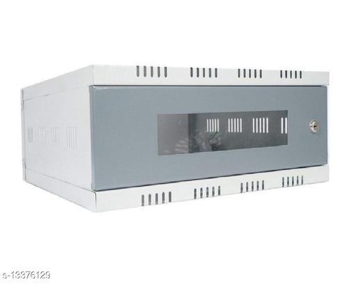 Kenji Server Rack 2U Mini CCTV/DVR/NVR Cabinet Box/DVR Rack Wall Mount with Lock/Network Rack/Server Rack with 6 Power Socket & Cable - Tray(1No) - Adjustable Shelf