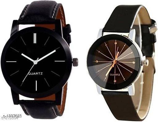 Trendy Men's & Women's Watches ( Pack Of 2 )