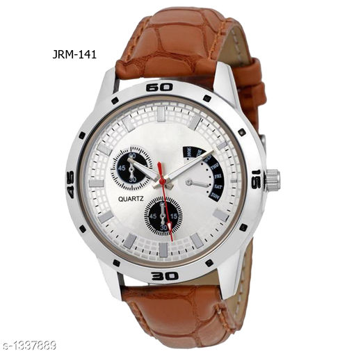 Trendy Synthetic Leather  Analog Men's Watch