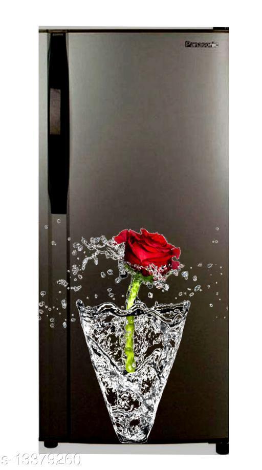 Global Graphics red rose in drop waterproofe decorative fridge sticker (pvc vinyl decal sticker self adhesive)