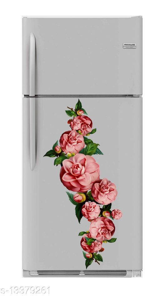 Global Graphics decorative colorful flower waterproofe decorative fridge sticker (pvc vinyl decal sticker self adhesive)