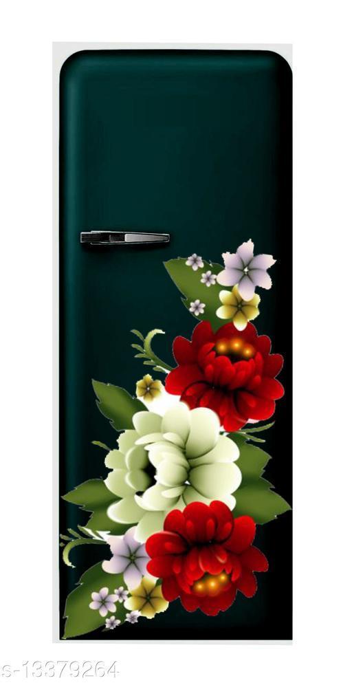 Global Graphics colorful flower decorative flower waterproofe decorative fridge sticker (pvc vinyl decal sticker self adhesive)