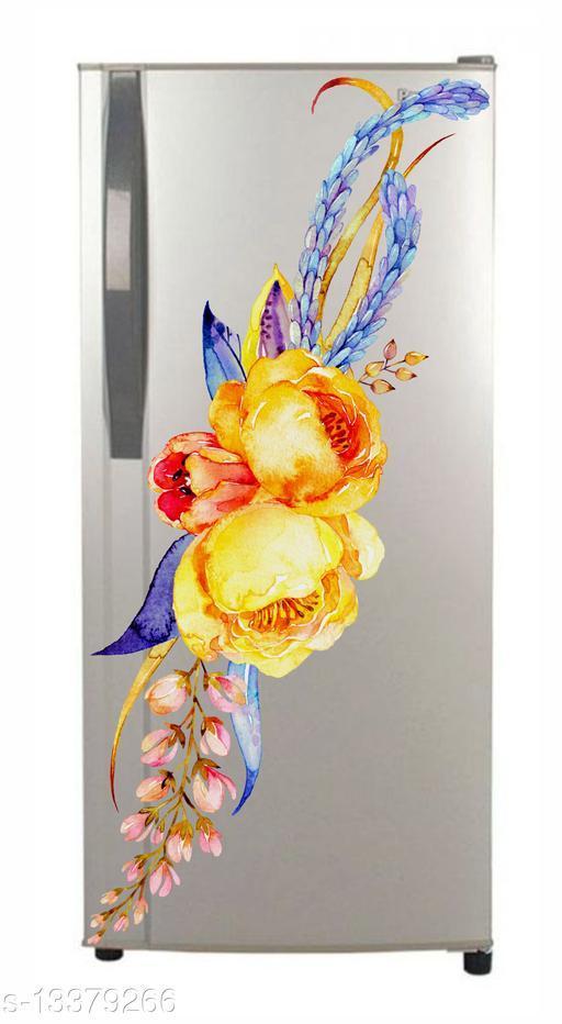 Global Graphics Multicolor décor flower fridge sticker for decorate your fridge (multicolor décor)