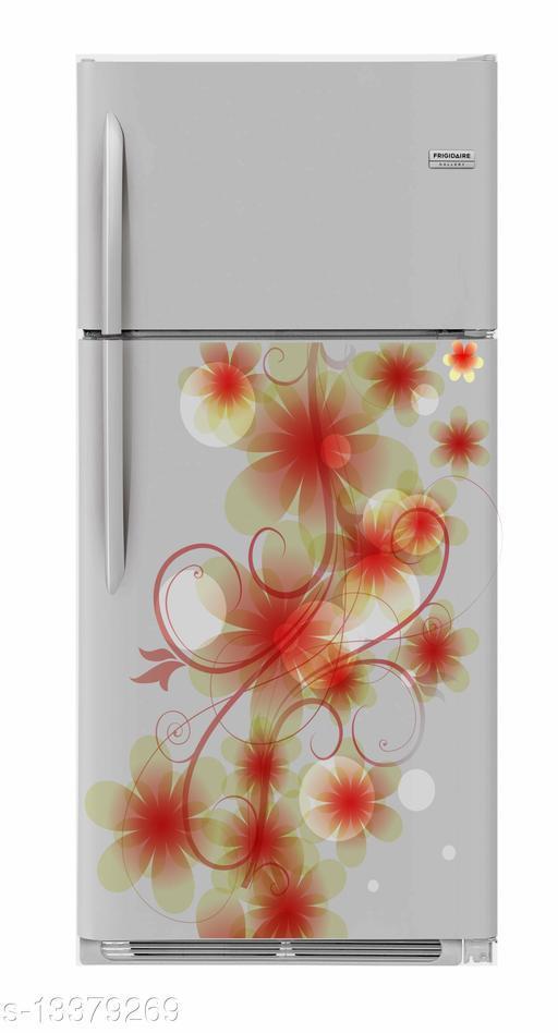 Global Graphics Abstract floral design fridge sticker (pvc vinyl multicolor sticker)