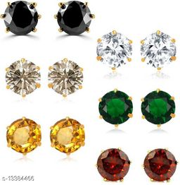 Multicolor Stone Earring Pair pack Of 6