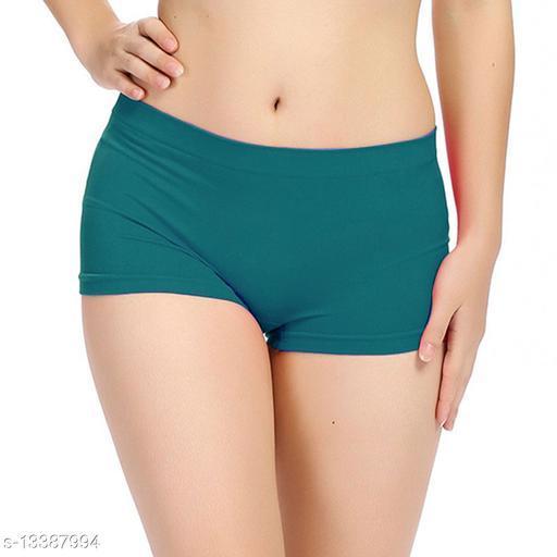 Women Seamless Green Cotton Panty
