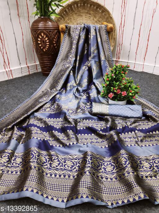 HSCR Grey Color Kota Silk Saree for Women