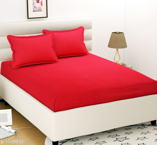 Colorful Solid Microfiber Double Bedsheet